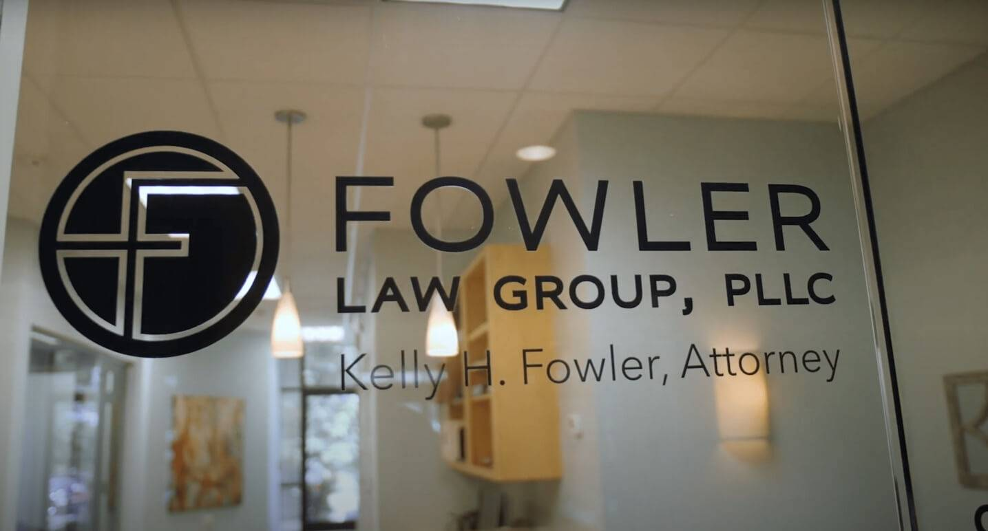 Door sign for Fowler Law Group offices