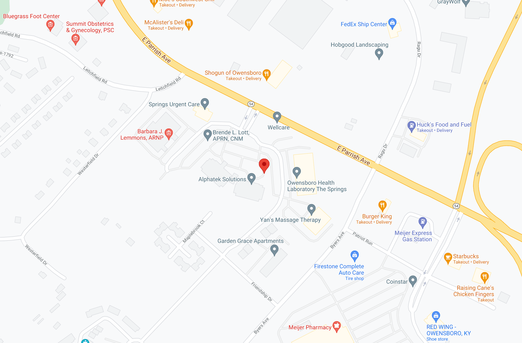 Map of Fowler Law location